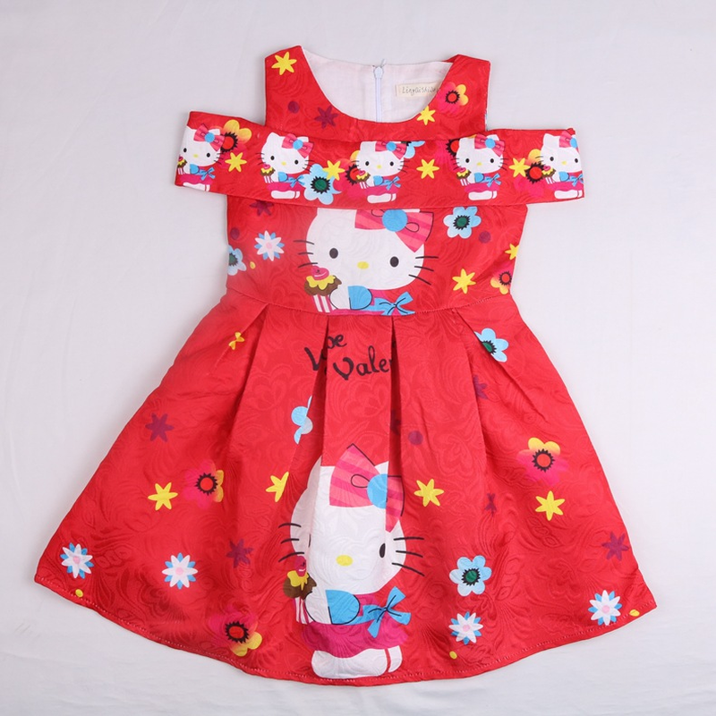 fd513586e 2018 New Summer Dress Cartoon Hello Kitty for Girls Clothes Printed Baby  Princess Kids Girl Sleeveless Dress Children Clothing - aliexpress.com -  imall.com