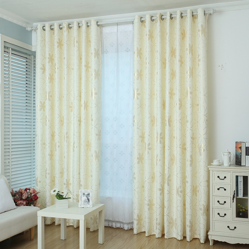 New Upscale Modern Pastoral Thickened Printing Cord Flax Veil Curtains Living Room Bedroom Balcony