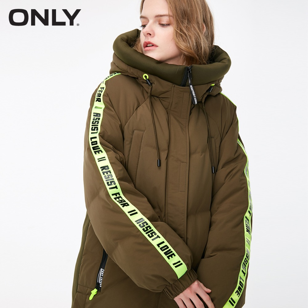 Only women's contrasting 롱 다운 재킷  118312600-에서다운 코트부터 여성 의류 의  그룹 2