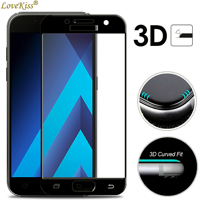 For <font><b>Samsung</b></font> Galaxy A3 A5 A7 2017 <font><b>A520</b></font> A720 A320 SM-A520F Screen Protector Film 3D Full Cover Tempered <font><b>Glass</b></font> Coverage Case Cover image
