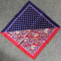 52X52CM 100 Silk Scarf Polka Dot Paisley Print Small Square Silk Twill Scarves Necktie Bag Handle