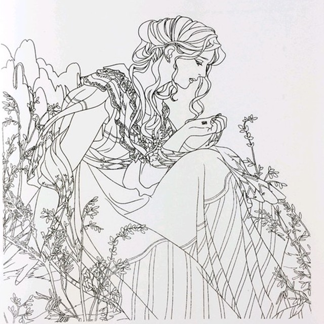 Online Shop Beauty and the Beast Coloring Book for Adult Kids ...