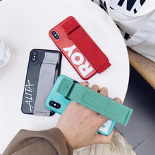 Fashion Green Wristband Tide brand phone case For iphone X XS XR MAX Deluxe IMD Soft Case 6 6s 7 8plus cover