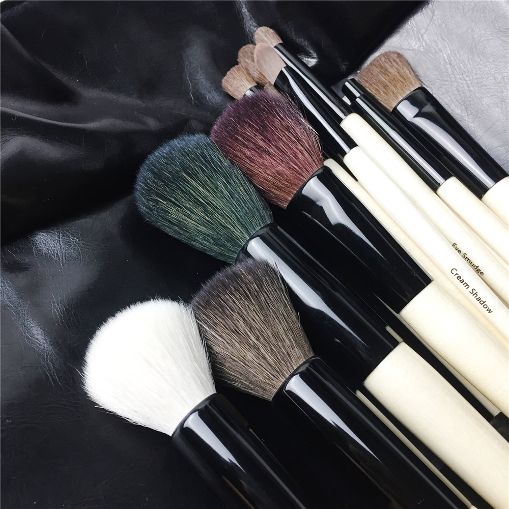 BB SERIES 18 Brushes The Complete Brush set Quality Wooden Handle Brush kit Beauty Makeup Brushes Blender Tool - 5