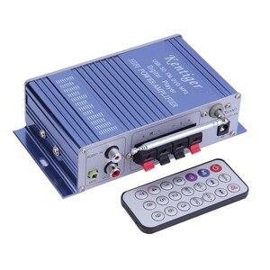Image 4 - Kentiger hy502 amplificador estéreo do carro de áudio 12v mini 2ch super bass jogador música digital amplificador potência suporte usb mp3 fm hi fi