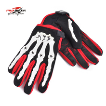Pro biker skeleton gloves motocross men motorcycle racing gloves guantes luvas de motociclista gants moto cycling