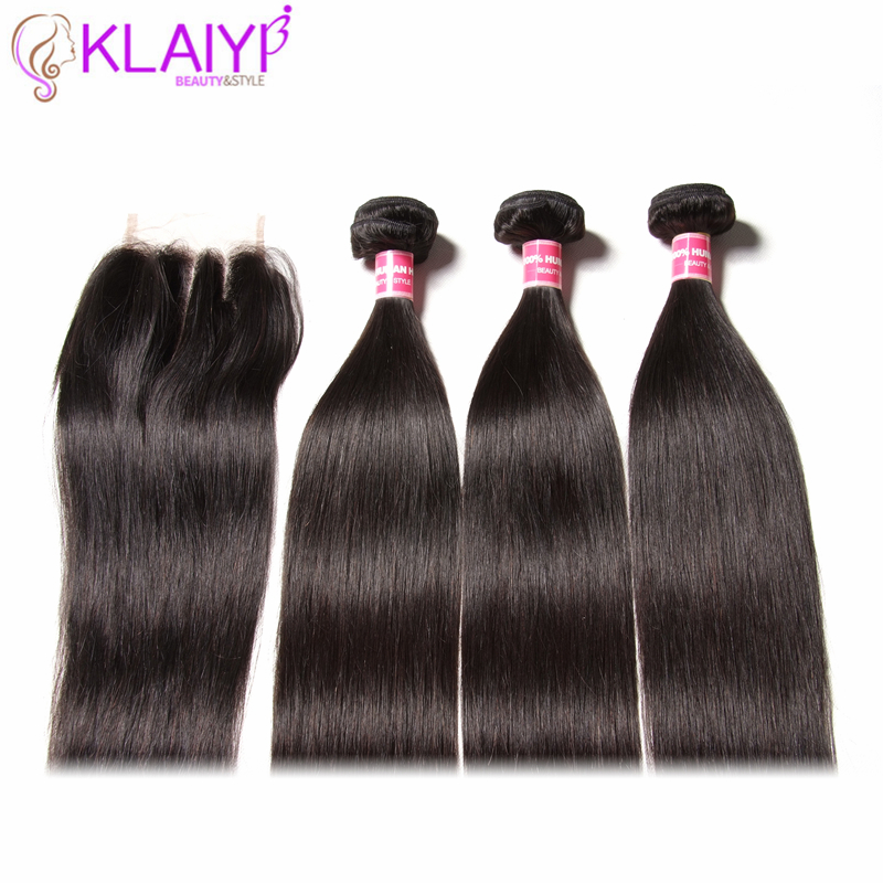 Image 5 - KLAIYI HAIR Malaysian Straight Hair Bundles With Closure 100% Human Hair Extension 3 Bundles With Closure Remy Hair FreeShipping-in 3/4 Bundles with Closure from Hair Extensions & Wigs