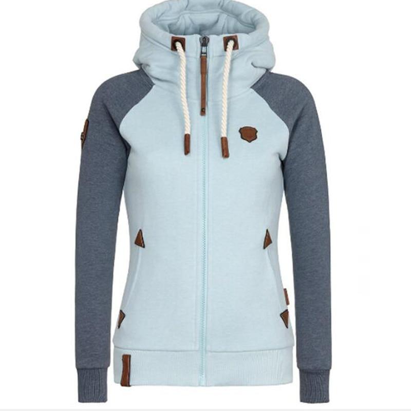Symbol Der Marke Chamsgend Frauen Fashion Solid Farbe Zipper Langarm Mit Kapuze Pullover Lose Beiläufige Warme Sweatshirt Sport Training Hemd Hemden