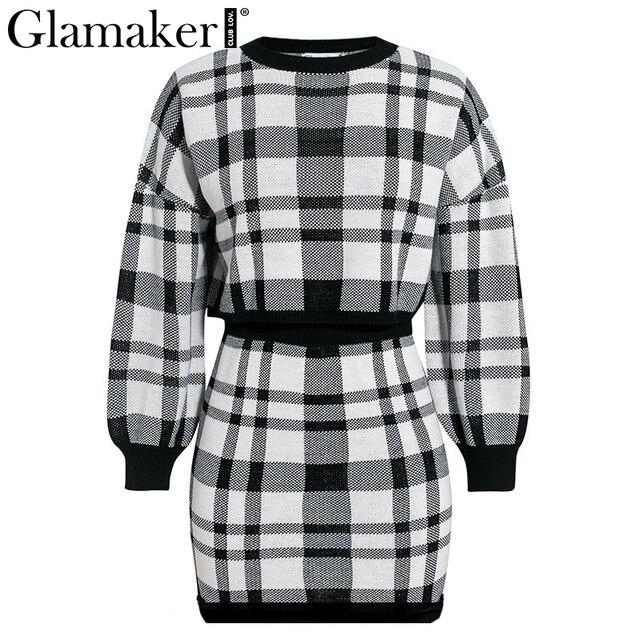 Elegant winter sweater female fashion party short dress 4