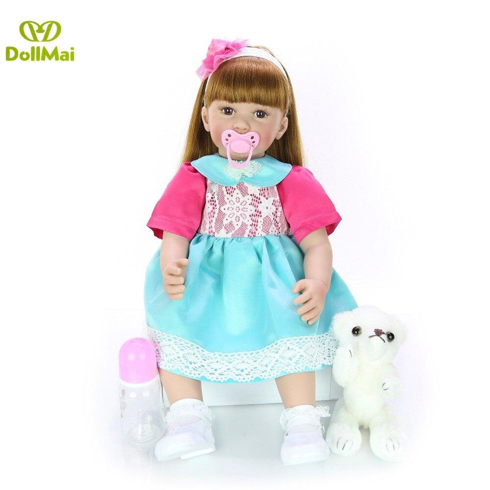 DollMai 60 CM bebe reborn bébé poupée fait à la main adorable Silicone reborn bambin Bonecas fille enfant silicone poupée lol cadeau - 4