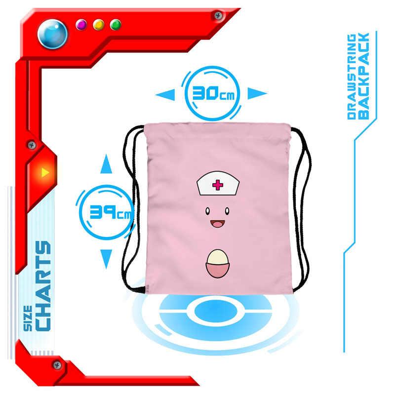 2018 новый рюкзак на шнурке Забавный Милый эльф 3D печать сумки на плечо для подростка мальчика девочки красные сумки на завязках для путешествий