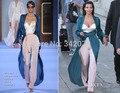 Kim ph1611 bustier com calças jumpsuit um casaco Celebridade Do Tapete Vermelho Vestidos de Kim Kardashian Vestidos (casaco + bustier + calças)