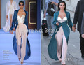 ph1611 Kim bustier trousered jumpsuit a coat Red Carpet Celebrity Dresses Kim Kardashian Dresses (coat+ bustier +trousers )