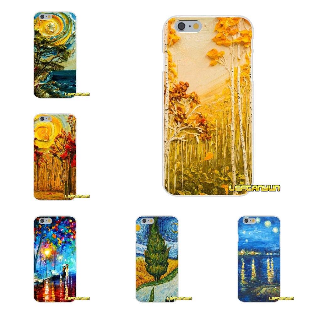 Хит продаж Ван Гог работает черный тонкий силиконовый чехол для телефона IPhone X 4 4S 5 5S 5C SE 6 6 S 7 8 плюс