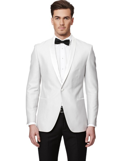 2016 Fashion Party wear Mens slim fit blazer Suit Jacket shawl satin lapel white tuxedo blazers for men