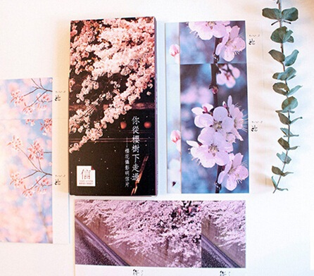 Hot selling business cards 60pcsdiy japan retro romatic cherry hot selling business cards 60pcsdiy japan retro romatic cherry blossoms memory postcard set greeting card in business cards from office school supplies colourmoves