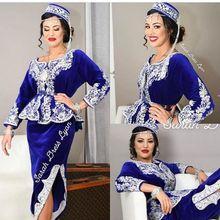 Karakou Algerian Ankle-length Evening Party Dresses with Long Sleeve 2019 Luxury