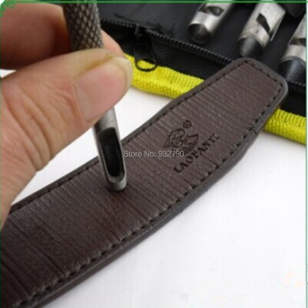 Drill Bits Clever 9pcs Men Women Leather Belt Watch Gasket Belt Hollow Hole Punching Punch Cutter Hand Tool 2.5-10mm Leatherworking Tools Cutters Luxuriant In Design