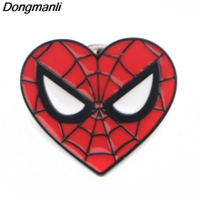 P3912 Dongmanli Funny Cute Spiderman Metal Enamel Brooches and Pins Collection Lapel Pin Badge Jewelry Fashion Accessories