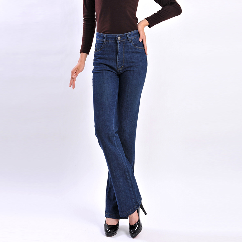 2018 New Arrivals Ladies Jean Thick High Waist Large Size Elastic Women Jeans Trousers Sraight Loose Fashion Denim Pant 5XL S764