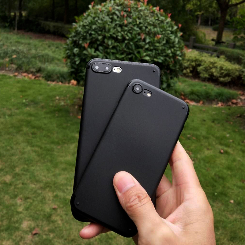 Iphone6s artı cep telefonu kabuk için 6 ultra-ince 7 7 artı Vaka 8 8 artı buzlu sürgülü el ter koruyucu kapak önlemek için
