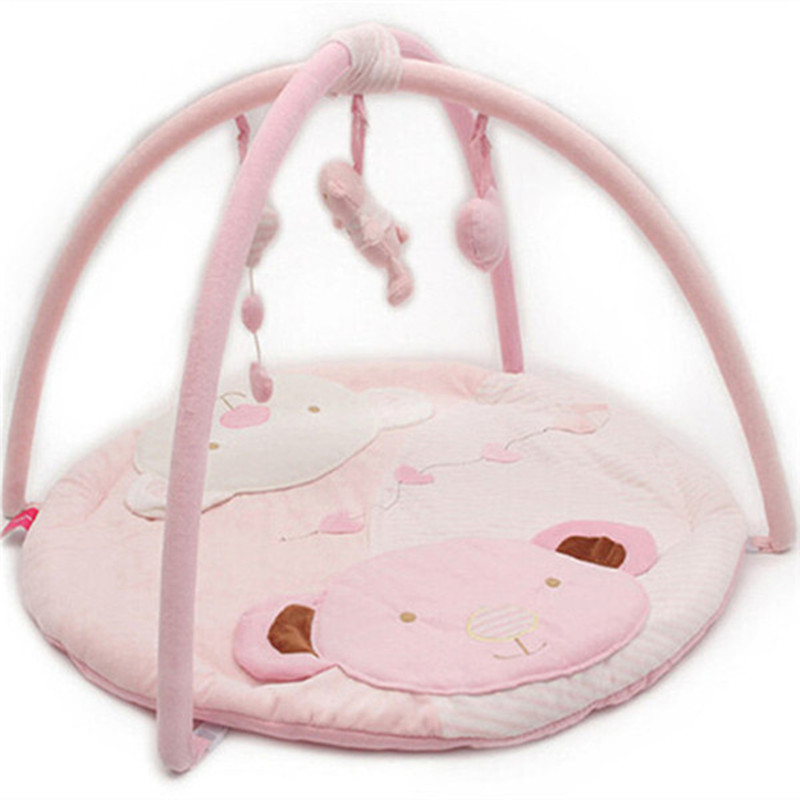 Pink Baby Musical Play Gym Mat Infant Kids Child Girl