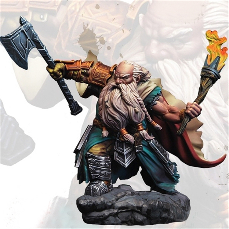 Resin figures high 70MM 1/28 resin kit Magic fantasy movie role unpainted unassembled Movie game characters Free Shipping