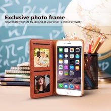 Premium PU leather bag for iphone 7 plus 6s 6 5s 5c 5 case Business TPU FLIP wallet cover Luxury with rotated Card Holder stand