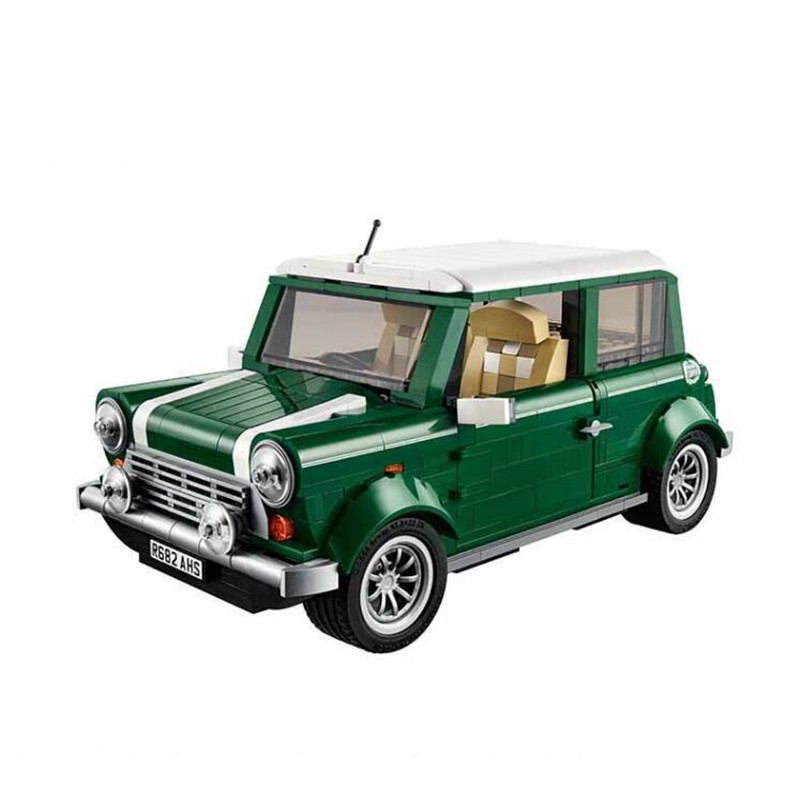 1108pcs DIY Model 21002 MINI Cooper Model Building Kits Blocks Bricks Compatible With legoingly 10242 Toys for children 1077 pcs building blocks yile 002 mini cooper model building car for kids bricks for gift compatible with lego 10242 lepin 21002