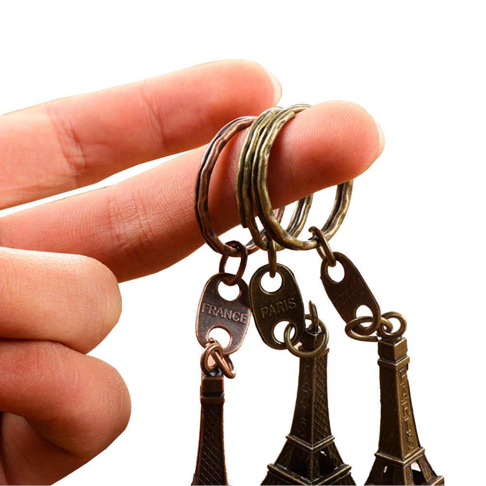 4 צבעים! מחזיק מפתחות מזכרות פריז רטרו קלאסי בציר מפתח טבעת קישוט המתנה הטובה ביותר