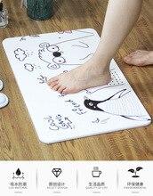 Cartoon Non Slip Bath Mat Bathroom Carpet,Diatom Mud Absorbent in the Comfortable Pad Bedroom Rugs