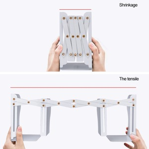 Image 3 - High quality metal Extensible Book Stand Rack Holders Document folding Racks Book organizer for Home School Office Bookcase