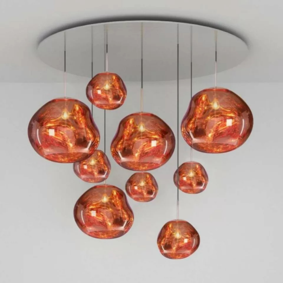 Modern Glass Lava Tom DIXON LED Pendant Lights Lustre LED Luminaire Hanging Lamp Pendant Lamp Living Room Deco Fixtures