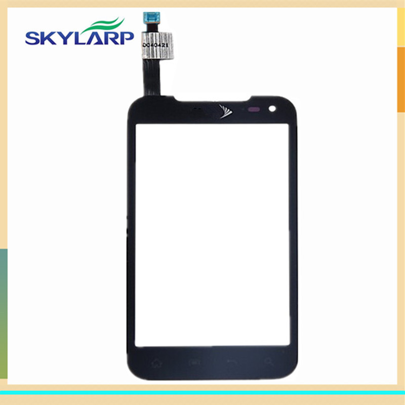 Black touch screen digitizer panel glass for LG Connect 4G LS840 Sprint sensor (with logo)