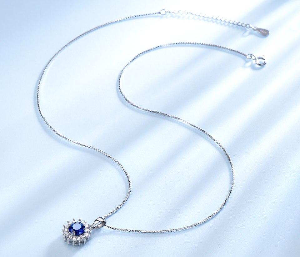 umcho blue sapphire  pendant for women brand fine jewelry NUJ032S-1 (3)
