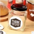 Receive a 200 ml glass  cups of pickles jar storage jar  tank Jam jars of honey bottle