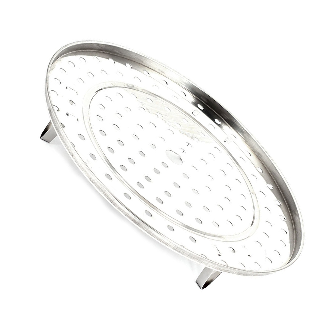 HGHO-Stainless Steel Kitchen Food Steaming Steamer Rack Stand 27.5cm