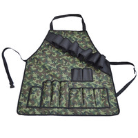 Professional BBQ Grill Apron with Tool Pockets and Beer Holder