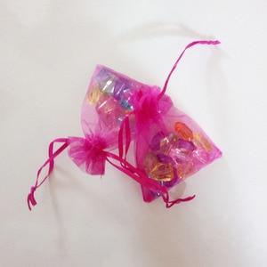 Image 4 - 1000 adet Gül Kırmızı hediye keseleri Için takı çantaları Ve Ambalaj organze çanta İpli Çanta Düğün/Kadın Depolama Ekran Torbalar
