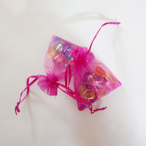 Image 4 - 1000 pièces Rose rouge cadeau sacs pour bijoux sacs et emballage Organza sac cordon sac mariage/femme stockage vitrines
