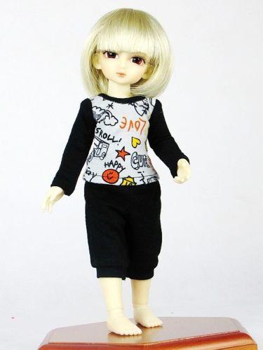 1//3 BJD Smart Doll Clothes for Dollfie DOD SD Floral Bare Shoulder Top Pants