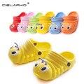 Cielarko crianças lagarta bonito jardim shoes verão sandálias meninos e meninas sandálias chinelos interior antiderrapante bebe criança sapatos 059