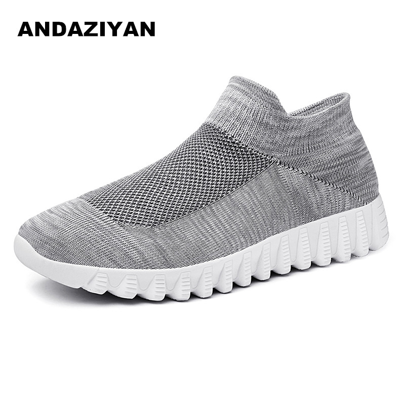 Knitted Mesh Shoes Summer Flying Woven Mesh Breathable Shoes One-legged Lazy Shoes
