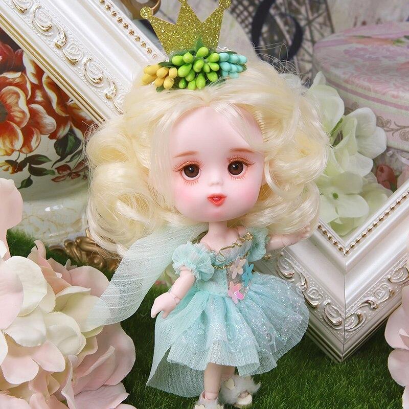 14cm kawaii Mini fruits filles poupées peint à la main maquillage Joint OB11 poupée bébé poupée jouets pour filles enfants cadeau d'anniversaire - 4