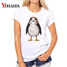 Fashion Women T-shirt Owl 3D Print T Shirt Plus Size Animal Graphic Tee Summer White T-shirts Hip Hop Casual Tops