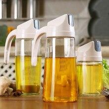 Boxi-dispensador de botellas de vidrio para cocina, con cierre automático, para aceite y vinagre, recipiente para aceite de oliva