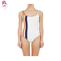 UCHIHA LQ New Women S Swimwear Fight Color Breathable Absorbent Sweat Fabric One Piece Bathing Suit