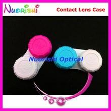 100pcs Contact Lens Case Contact Lenses Case Box C201 Free Shipping