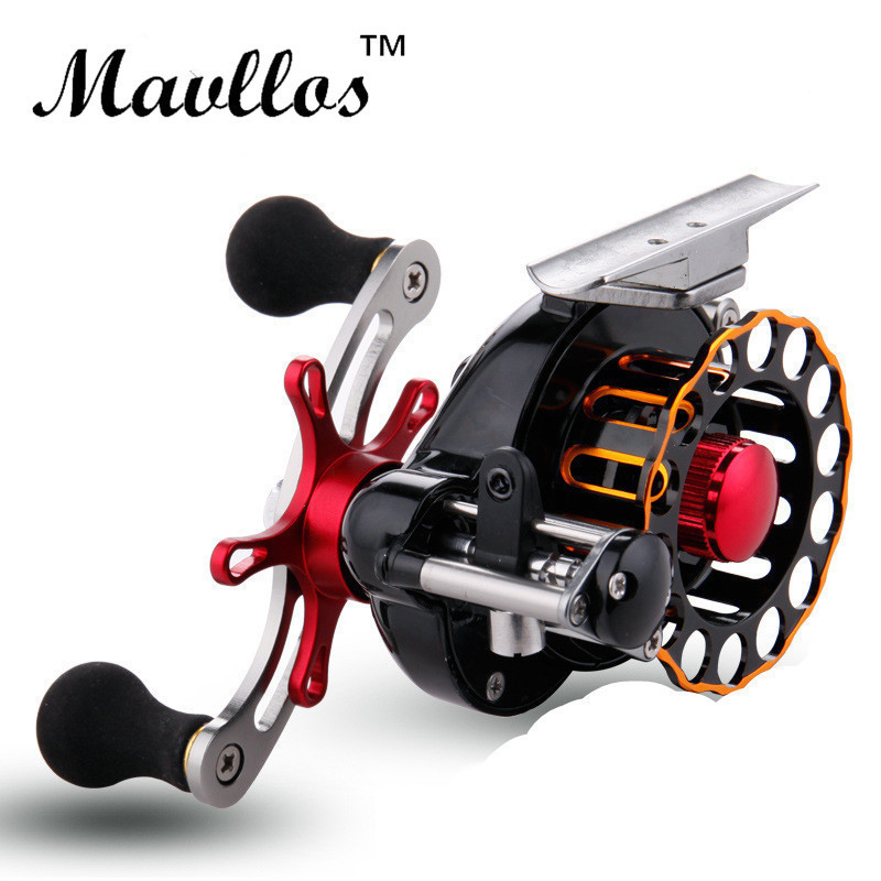 Mavllos Full Metal Saltwater Fly Fishing Reel Ice Trolling Reels 4+1BB Right Left Hand Baitcasting Raft Reel Fishing Tool metal round jigging reel 6 1 bearing saltwater trolling drum reels right hand fishing sea coil baitcasting reel
