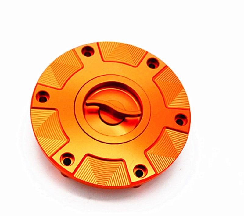 Motorcycle Quick Release Fuel Gas Cap Cover Orange For KTM 1290 Super Duke 2014